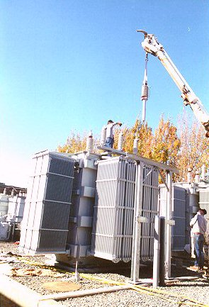 installation of 10 mva transformer including oil fill and